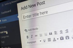 WordPress Editing Screen