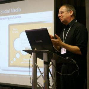 Andy Poulton delivering a Masterclass in SEO